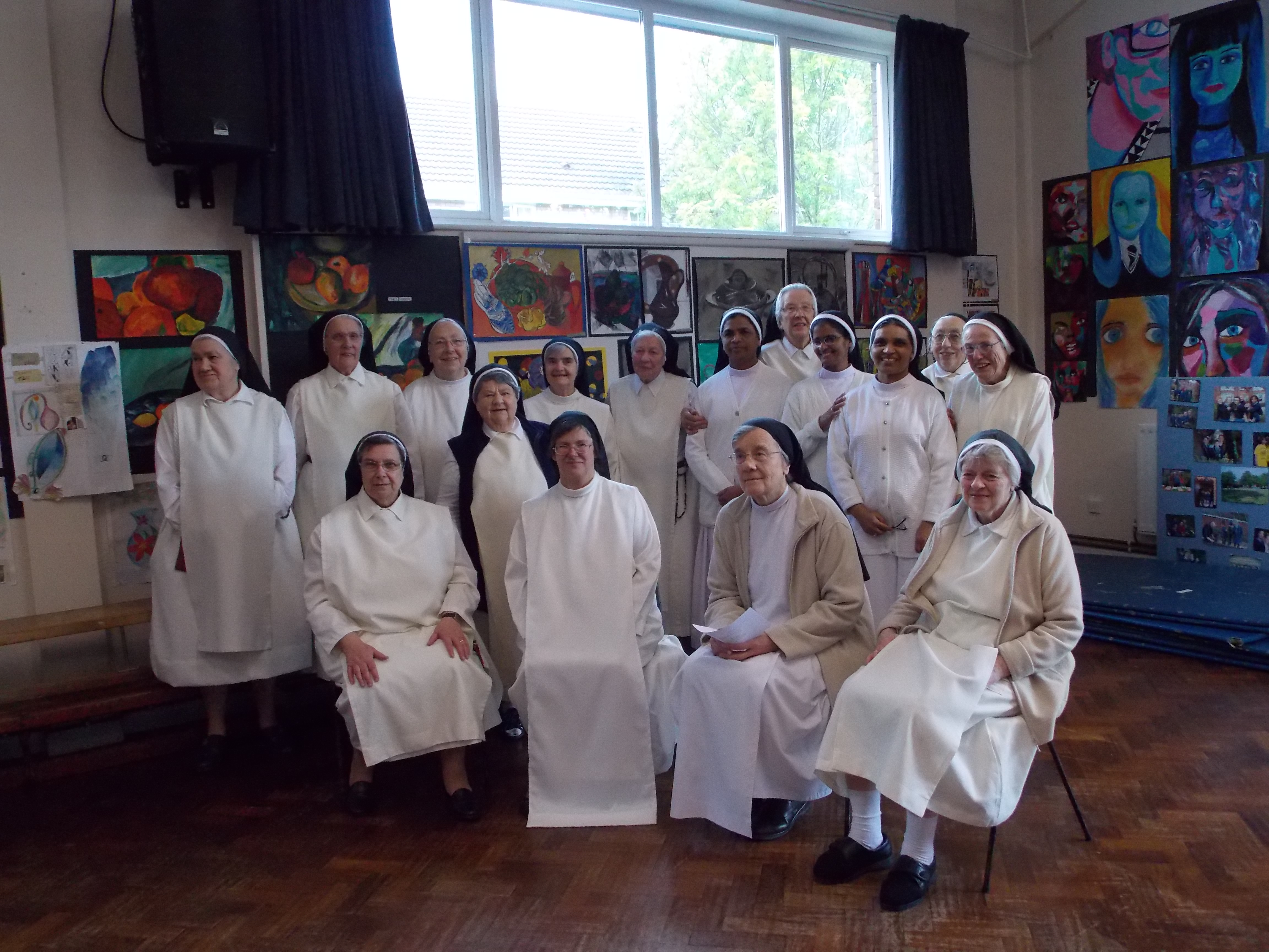 Sisters of the Congregation with visiting Sisters from India