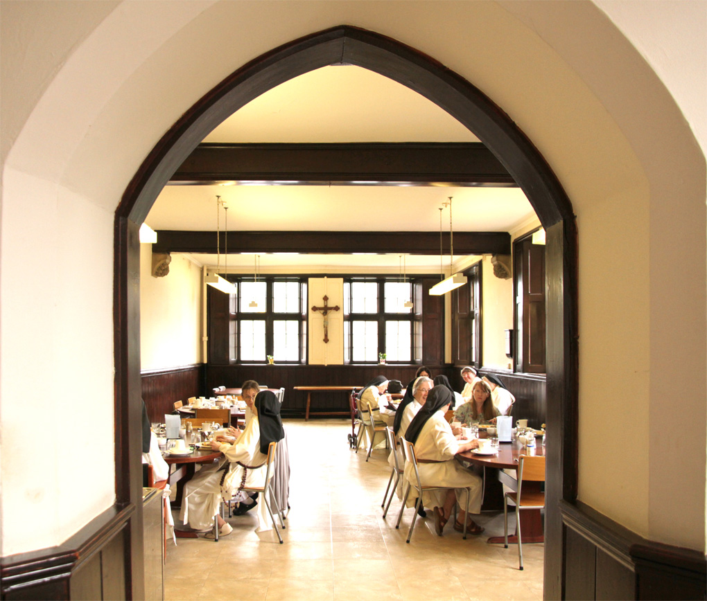 The Refectory in Stone, where the sisters share meals in common