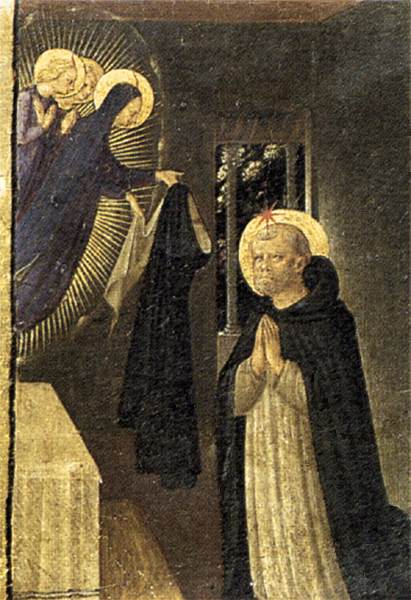 The Virgin Consigns the Habit to St. Dominic - Fra Angelico, 1433-1434