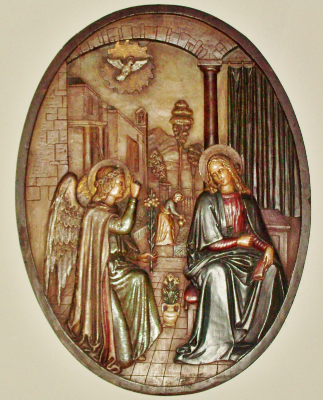 The Annunciation:  A Rosary Plaque from the cloister in St Dominic's Stone